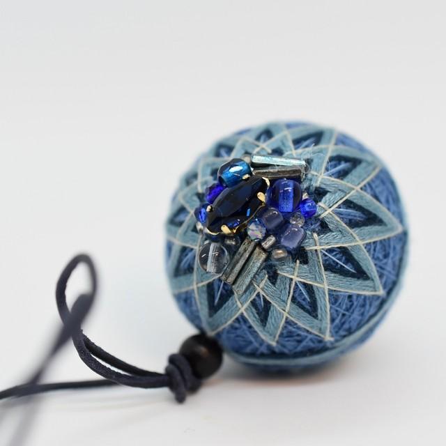 草木の手まりチャーム:藍