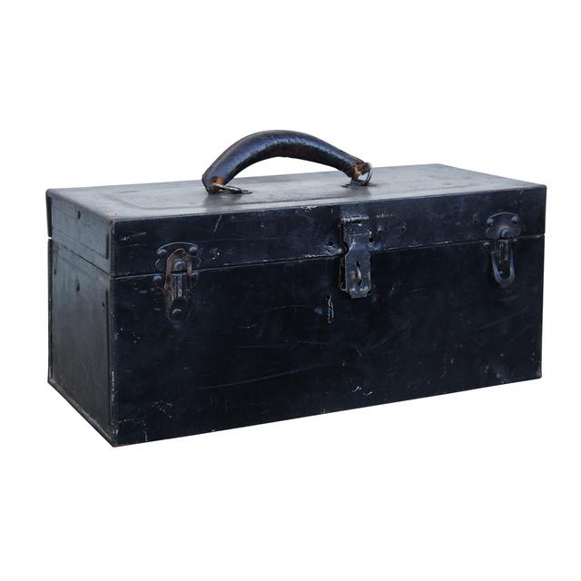 VINTAGE BLACK TOOL BOX