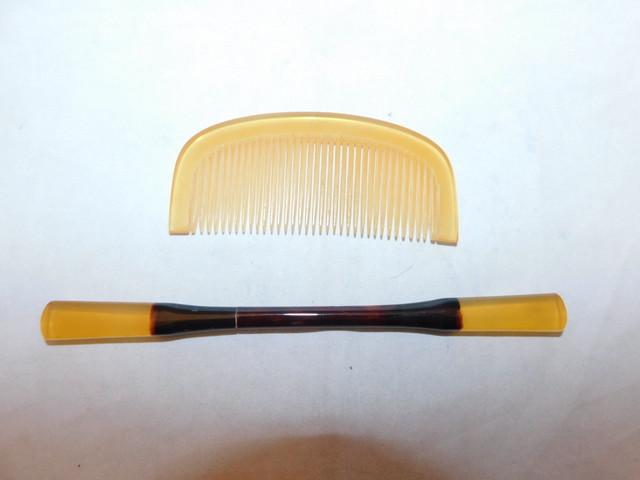 アール・デコ簪(プラスチック)plastic work ornamental hair pin(whirl)(No20)
