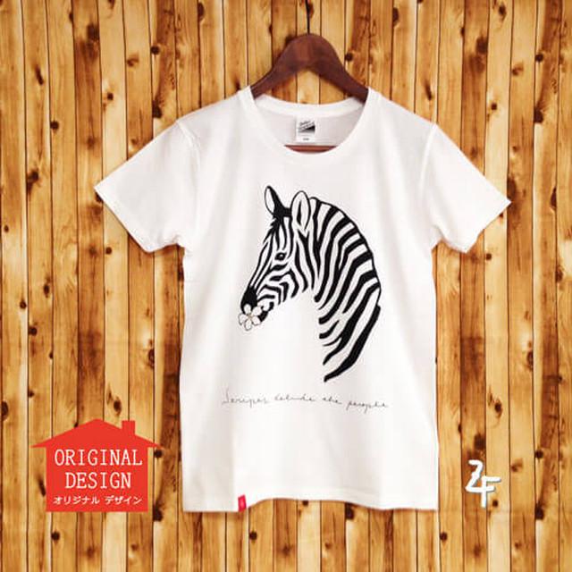 【半額】レディースTシャツ シマウマ白×黒《送料無料》