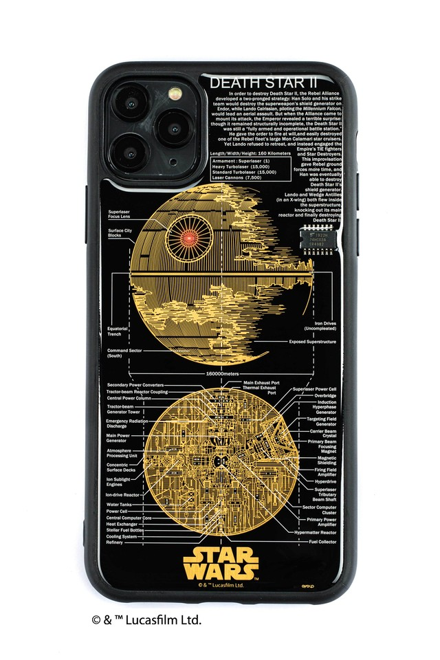 FLASH DEATH STAR 基板アート iPhone 11 Pro Max ケース  黒【東京回路線図A5クリアファイルをプレゼント】