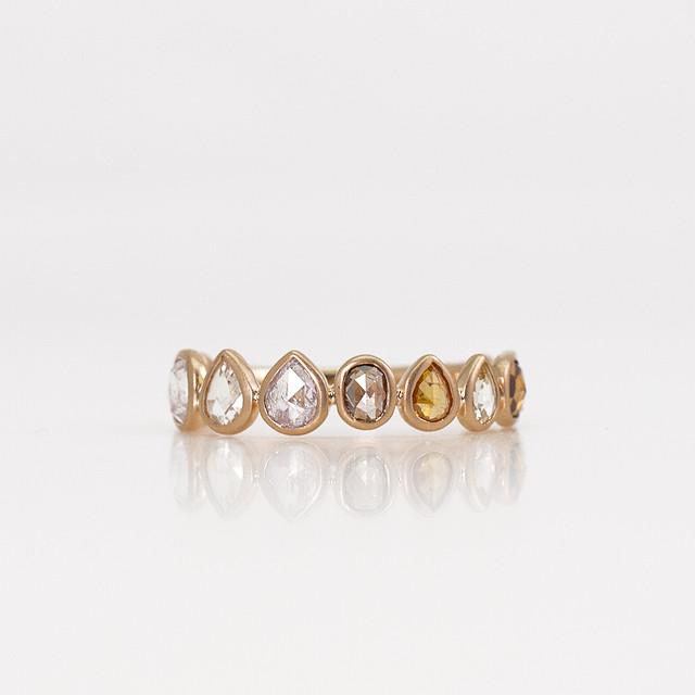Rosecut diamond eternity ring / Multi