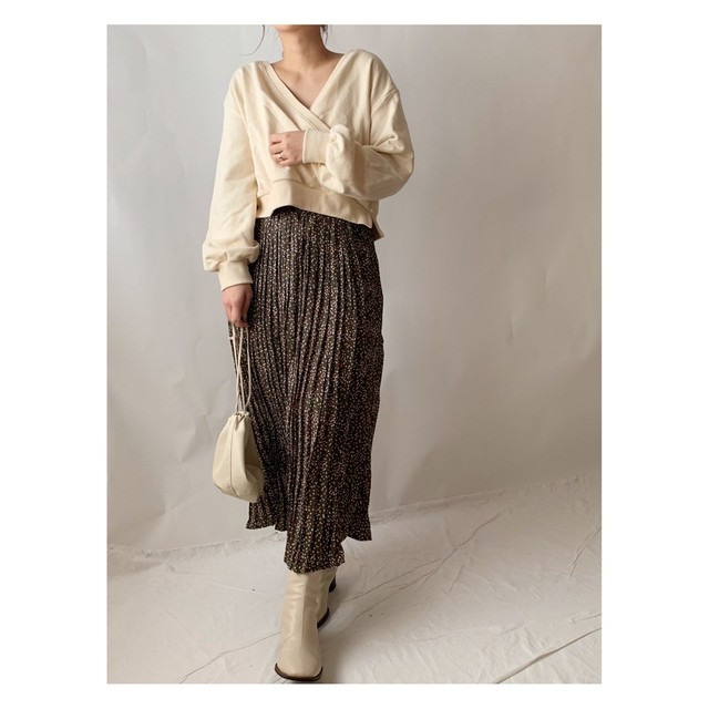 【asyu】rétro pleats skirt