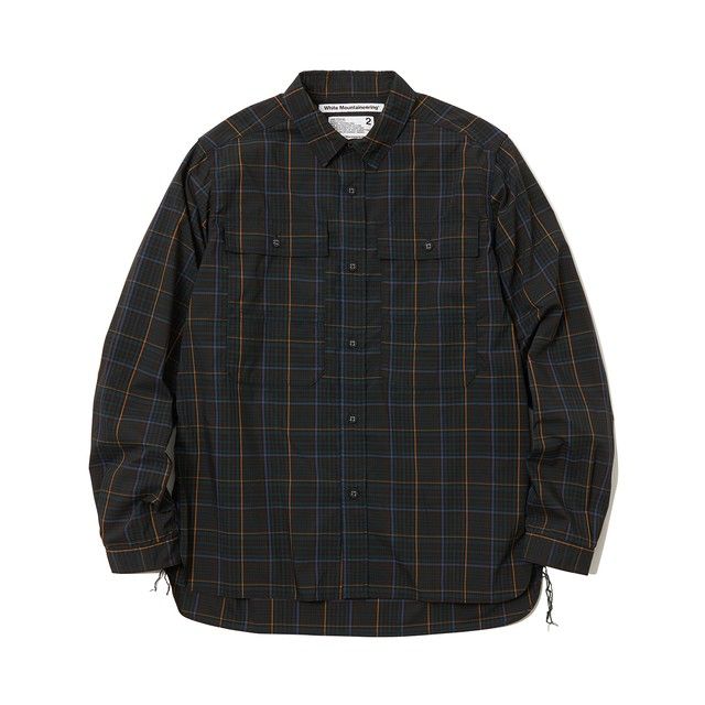 MULTI CHECK TRIPLE STITCHED W POCKET SHIRT -NAVY