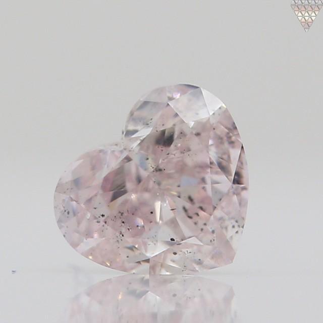 0.25 ct FANCY LIGHT ORANGY PINK SI2 HEART GIA 天然  ダイヤモンド ルース