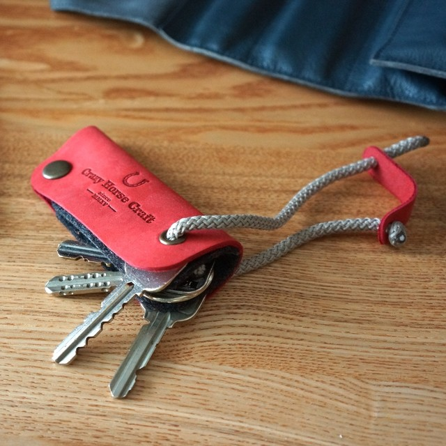 46 Leather Key Organizer & Holder Autumn Red