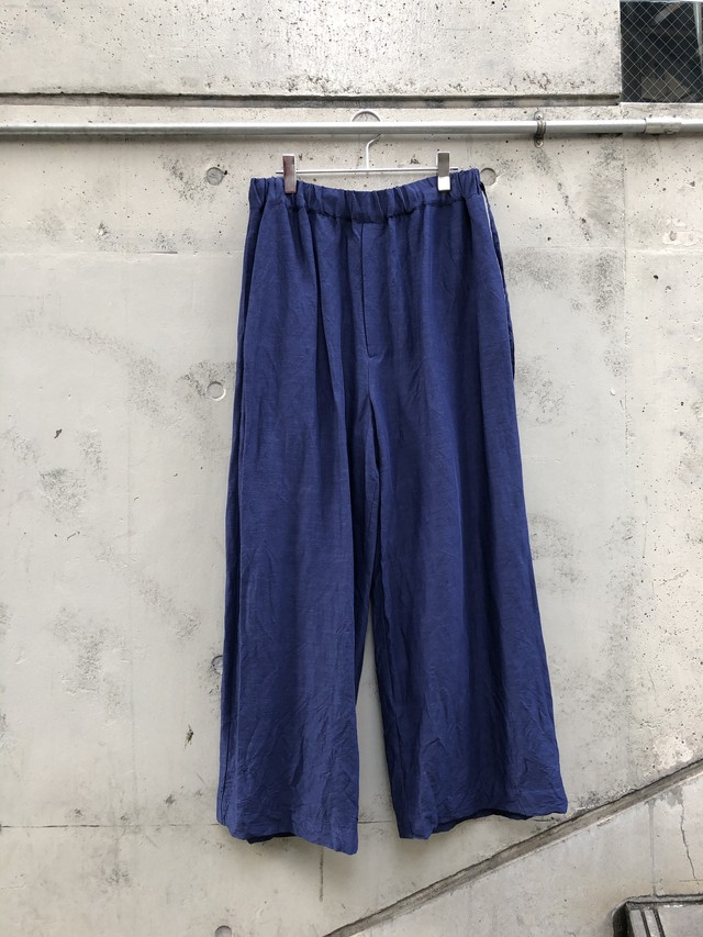 『VOAAOV』linen rayon wide pants / NAVY size 2