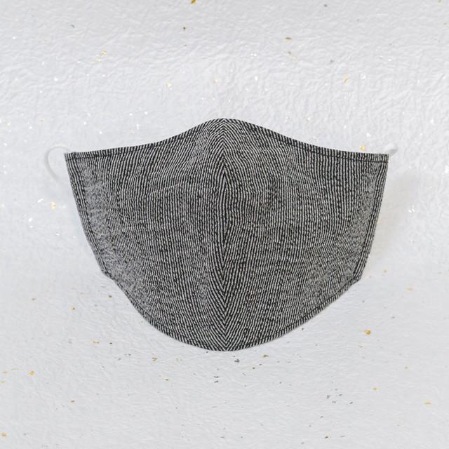 クラシック ブラック(黒) / モダン和紙織りマスク