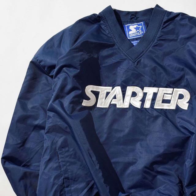 【XXLサイズ】STARTER スターター LOGO V-NECK WINDBREAKER ウィンドブレーカー NAVY ネイビー XXL 400610191030