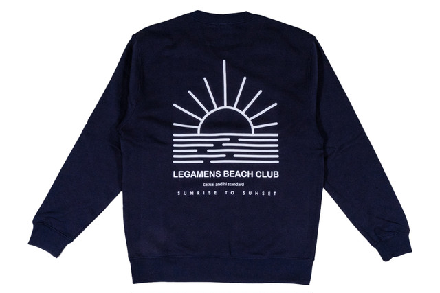【beach girl logo sweat】/ navy