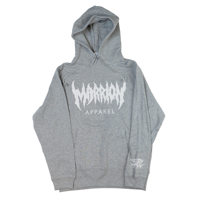 MARRION APPAREL LOGO HOODIE (Heather gray ×White)