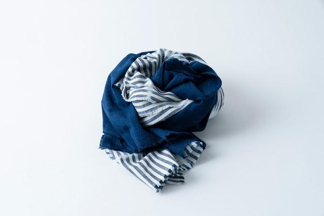 【coming soon!】007. 白波 × 藍 - bicolour whitecaps | stole