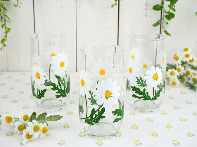 人気のアデリア 野ばな のグラス(中サイズ)昭和レトロ(2)