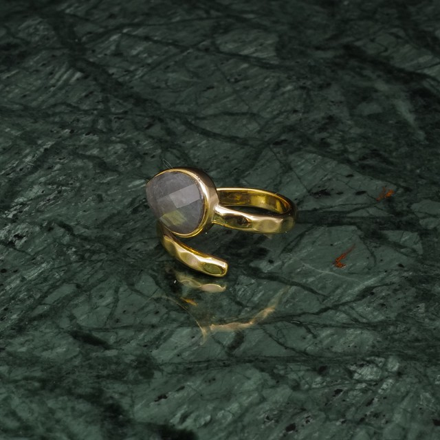 SINGLE STONE OPEN RING GOLD 011