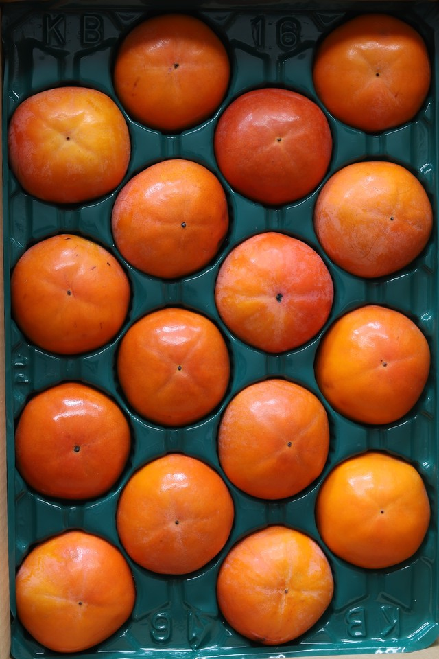 【贈答用 L】樹上完熟富有柿 4kg箱