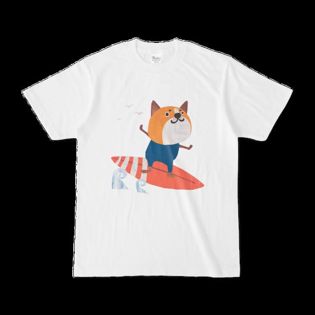 前面プリントイラストTシャツ 『波乗りワンコ』