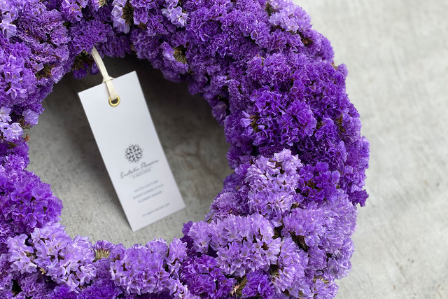 Statice Wreath Violet 09 | スターチスリース