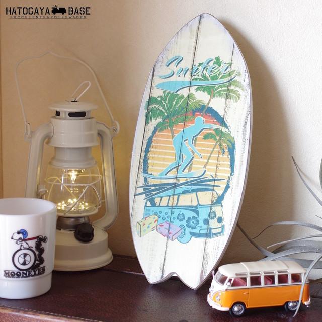 ウッドサーフボードプレート ワーゲンバス SURFER [WSBT2S01]