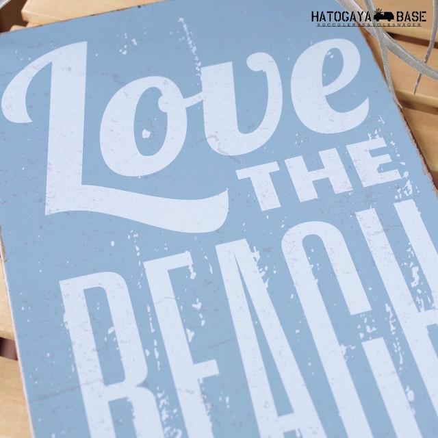 サインボード LOVE THE BEACH 縦型 [SBLVBC01]