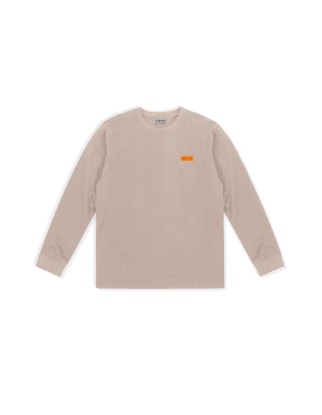 XENO LABEL LS T-shirt Beige