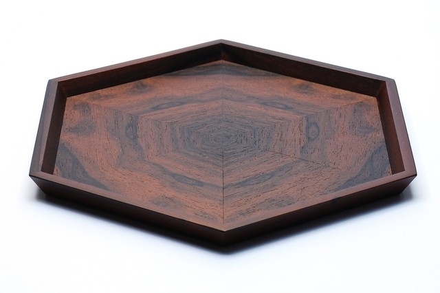 楡 hexagonal tray 0034