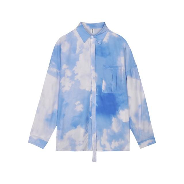 【SELECT】青空柄シャツ