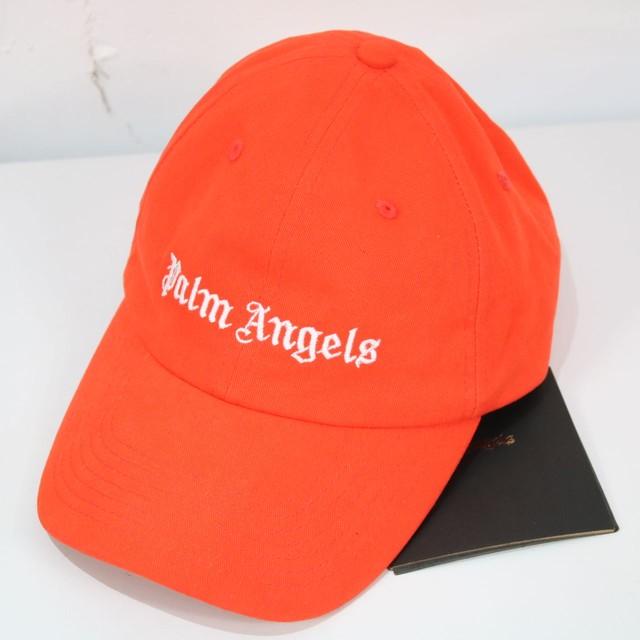 【新品】[美品 ]Palm Angels / パームエンジェルス | クラシックロゴキャップ | F | オレンジ