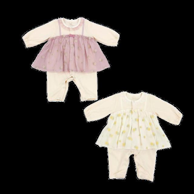 Little s.t. by s.t.closet チュール刺繍カバーオール