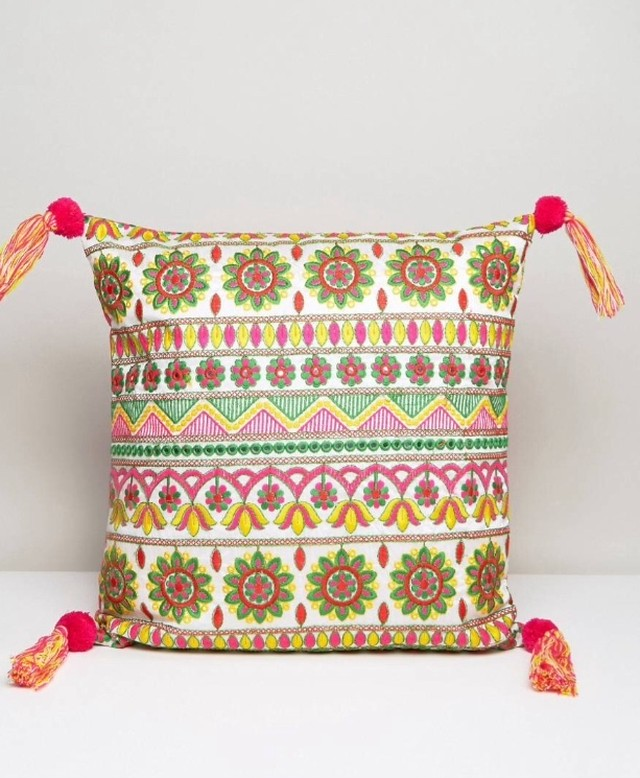 cushion cover with tassel