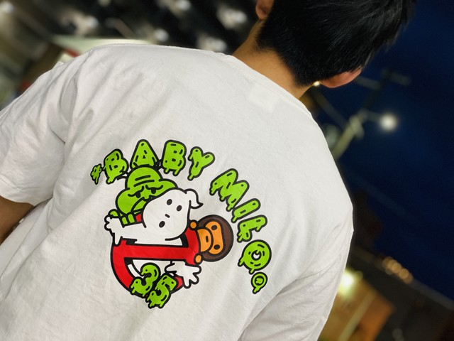 A BATHING APE GHOSTBUSTERS TEE WHITE LARGE ゴーストバスターズ コラボ 5704