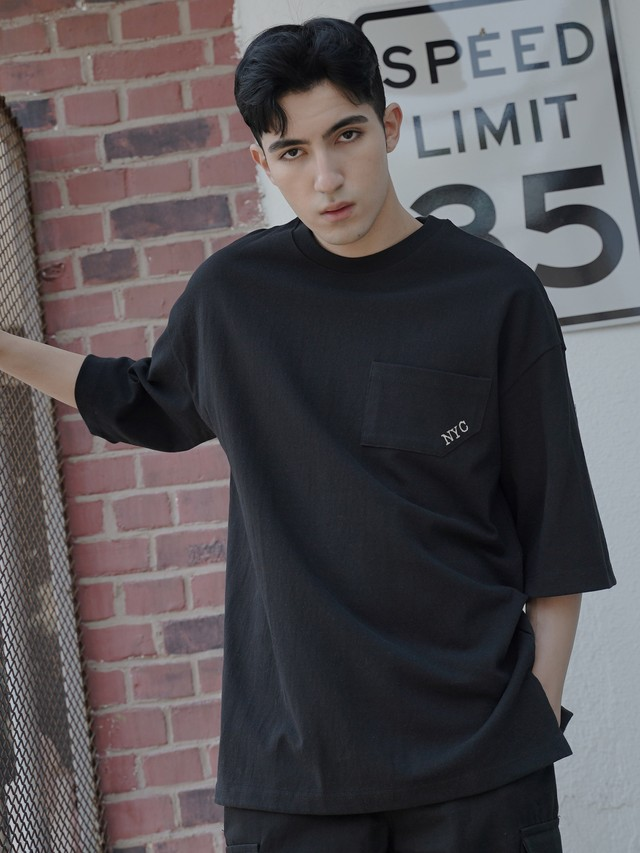 【即日出荷】NYC Tシャツ 半袖 シンプル 大きめ ゆったり メンズ ユニセックス