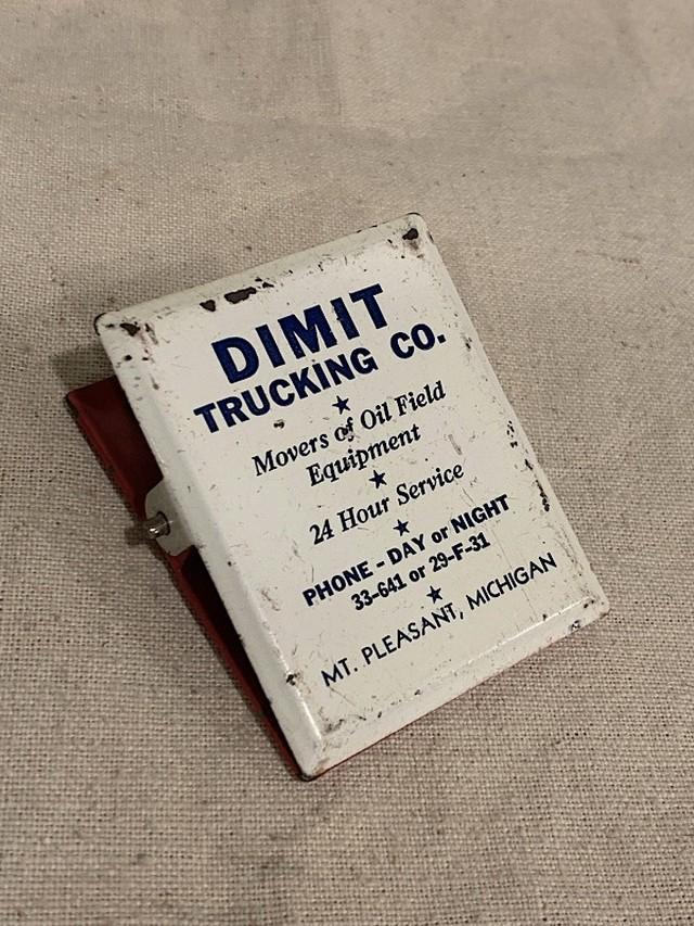 "ADVERTISING MEMO CLIP "" DIMIT TRUCKING CO. """