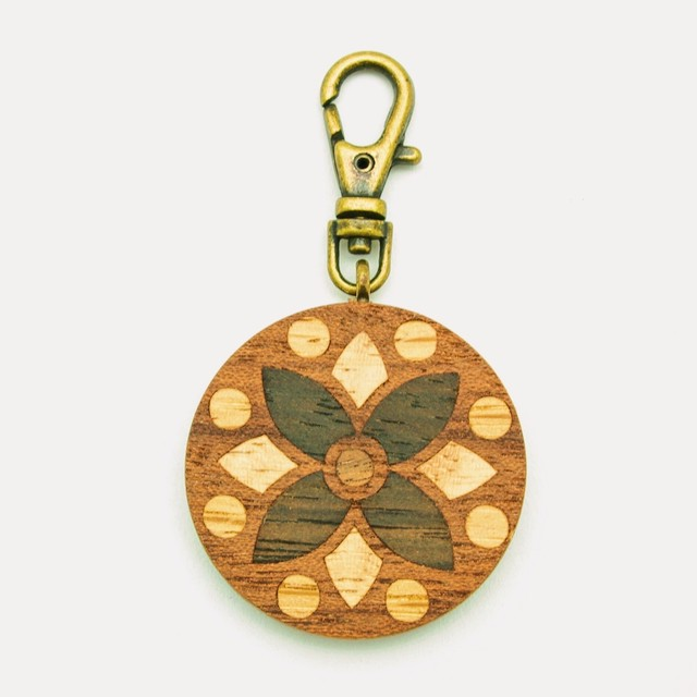 wooden inlaid charm