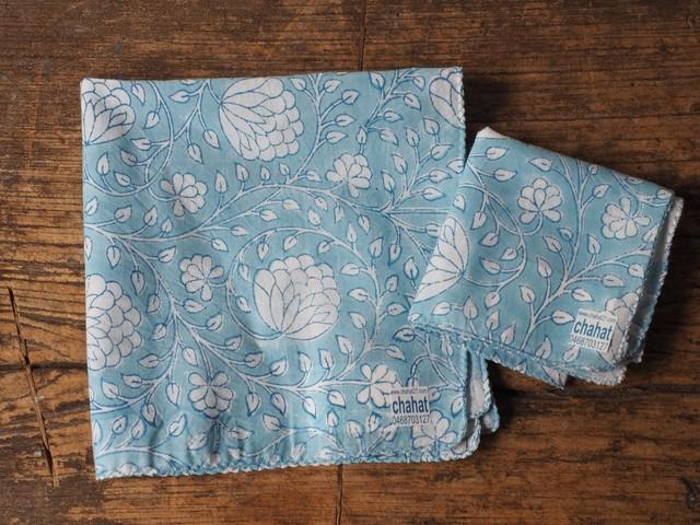 156ri049 Block Print Handkerchief a24
