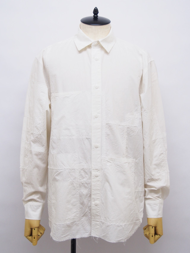 SEVESKIG (セヴシグ) PANEL BORO-SHIRT / WHITE SH-SV-KS-1002-2