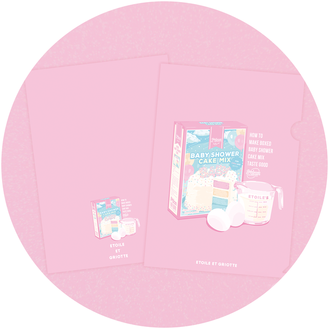 Baby Shower Cake Mix A4クリアファイル