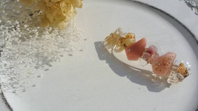 《ボタニカルバレッタ*ベビーピンク紫陽花》送料無料