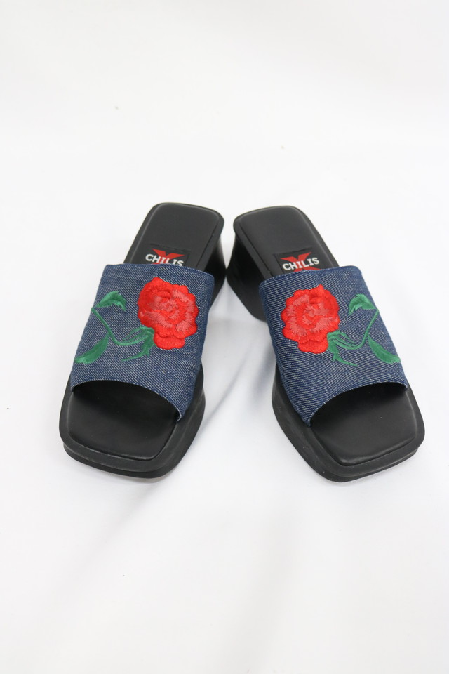 flower embroidery shoes / 4SSGD27-20