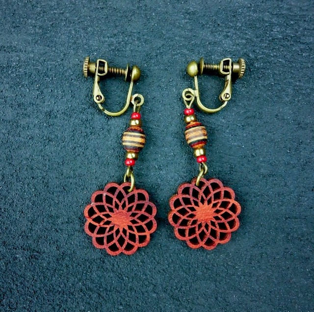 geometric earring EKM-WB-PD