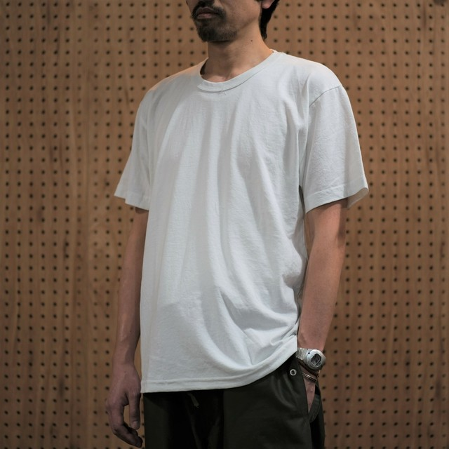 Upcycle(アップサイクル)UCR401 VINTAGE WASH S/S TEE -VINTAGE WHITE- #UP1911001