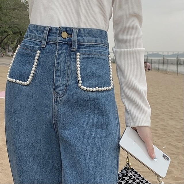 front pearl pocket jeans