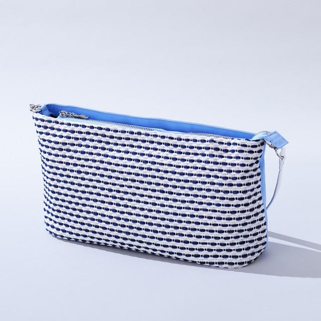 【NEW】機能性とオシャレを両立! 6ポケット付 3WAYクラッチバッグ RizCluth Basic Sky Blue(L)