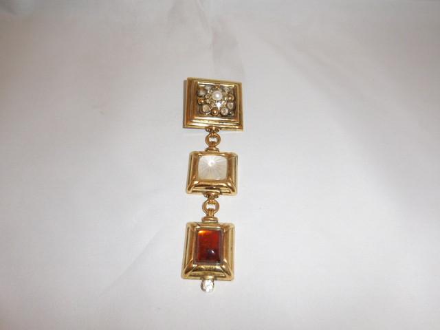 イタリア製さがりブローチ(ビンテージ) vintage brooch (made in Italy)