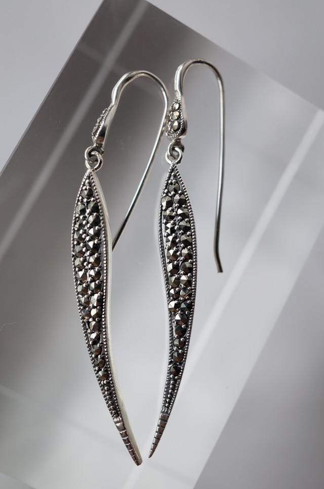 Staring Silver Feather Earrings