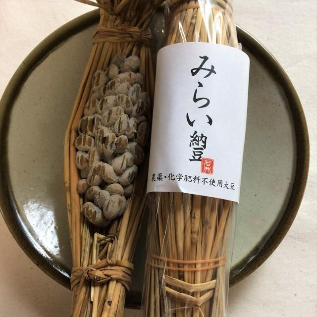 新潟県・十日市のみらい納豆(藁苞)