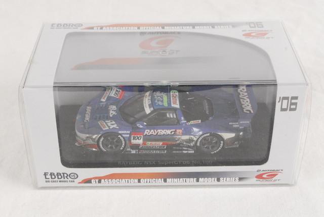 2228 未使用 エブロ ミニカー 1/43 EBBRO SUPER GT500 2006 No.100 RAYBRIG NSX 802 4526175438029