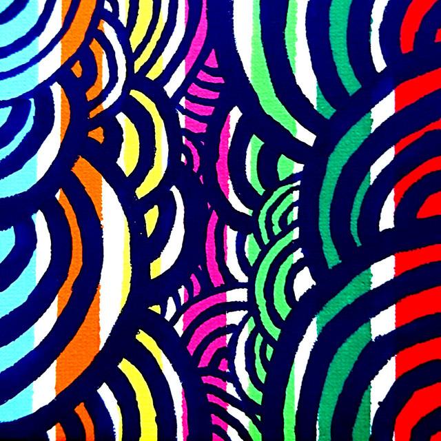 絵画 インテリア アートパネル 雑貨 壁掛け 置物 おしゃれ 夏 祭り 抽象画 ロココロ 画家 : ごま 作品 : なつまつり