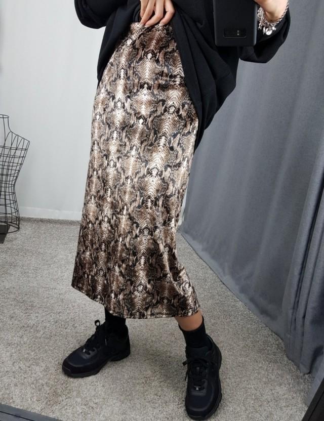 パイソンスリットスカート スカート ロングスカート パイソンスカート 韓国ファッション