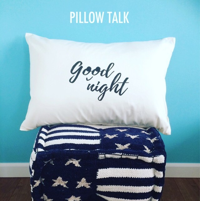 Good night PILLOW CASE [WHITE]