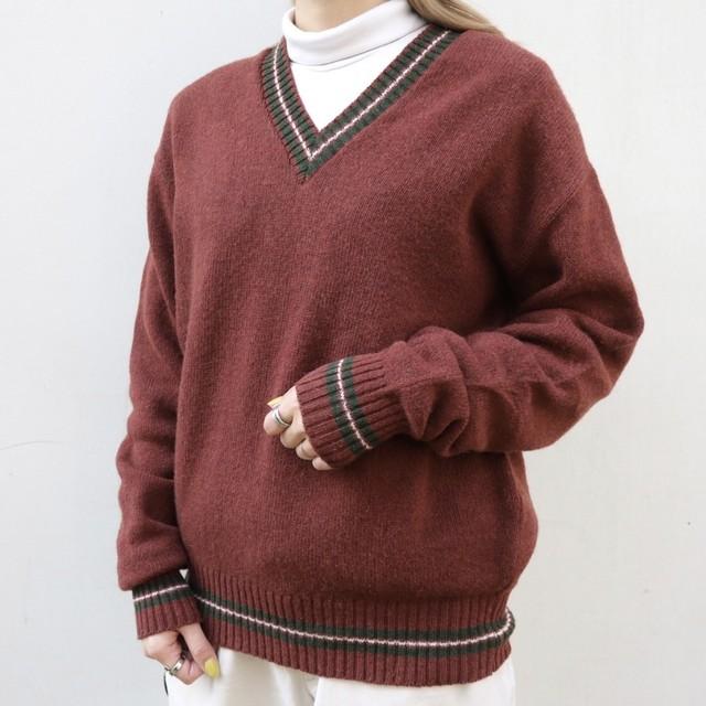made in France V-neck sweater